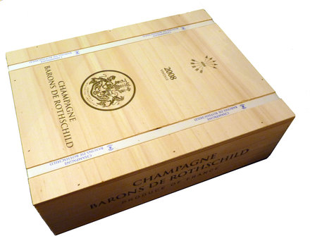 Champagne Baron de Rothschild Vintage Champagne ( luxury Wooden 3 bottle Box)